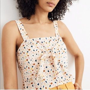 NWT Madewell Tie Front Confetti Top - 8